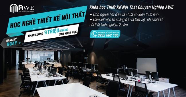 Khóa học thiết kế nội thất chuyên nghiệp AWE ở Hà Nội