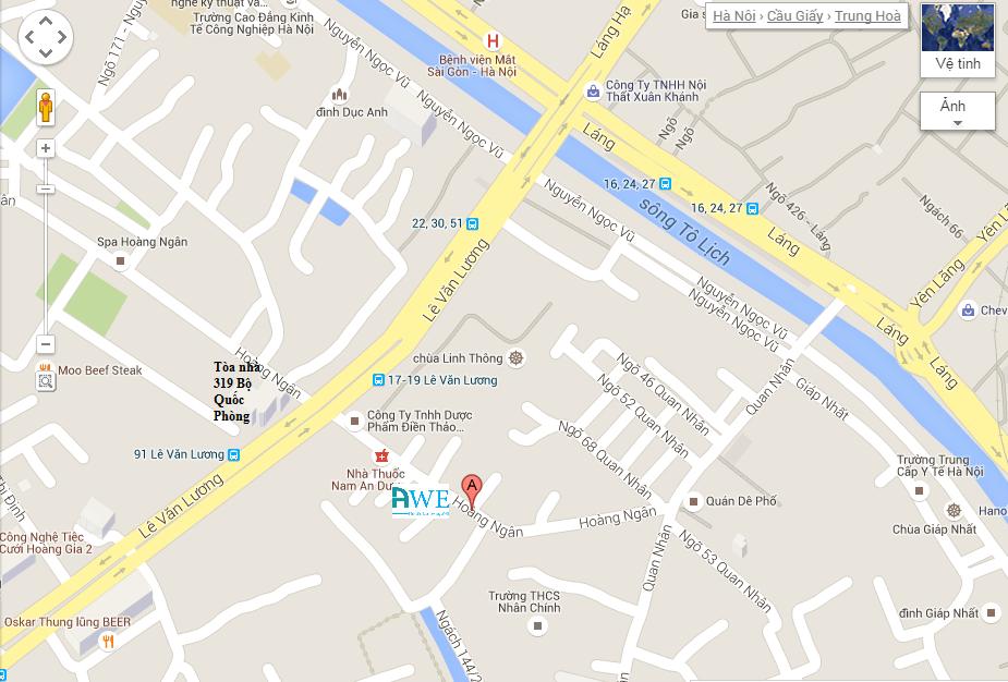 địa chỉ AWE, bản đồ đến AWE