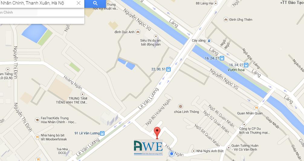 địa chỉ AWE, chỉ đường tới AWE