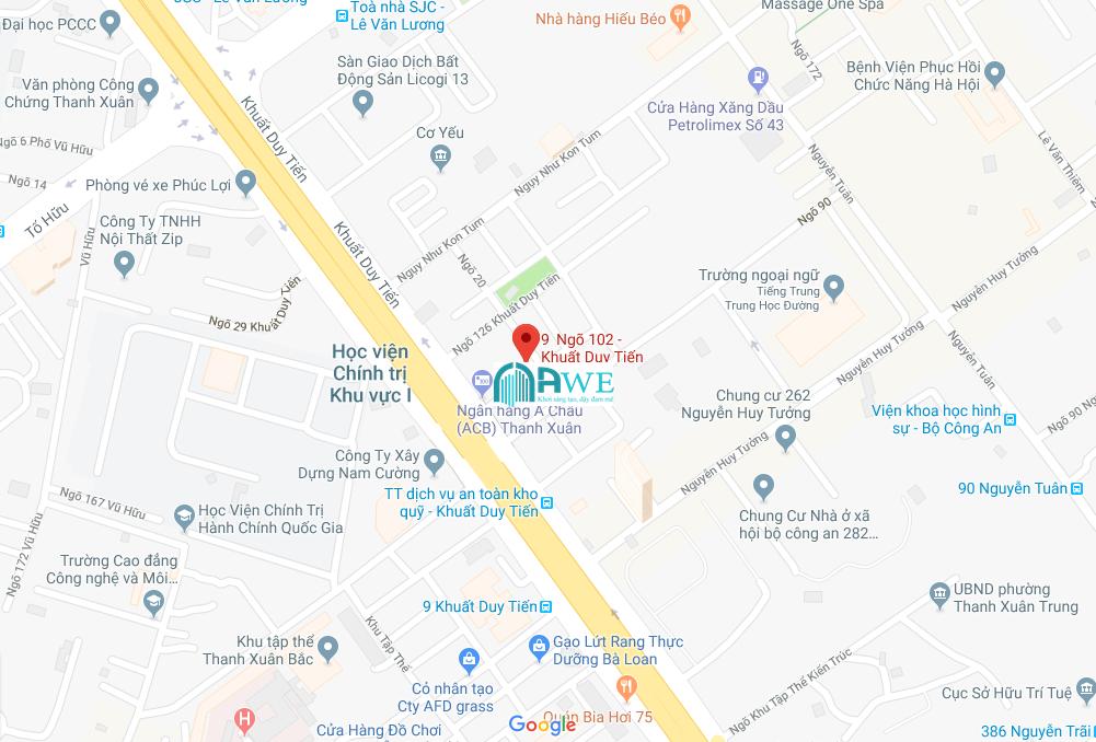 địa chỉ trung tâm đào tạo thiết kế nội thất AWE