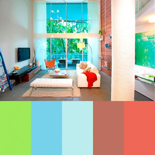 những cách phối màu trong thiết kế trang trí nội thất