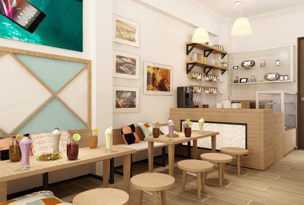 ý tưởng thiết kế cửa hàng học viên AWE