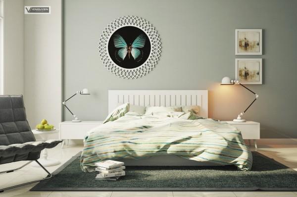 mẫu thiết kế nội thất phòng ngủ phong cách hiện đại