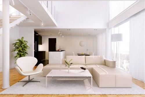ánh sáng trong thiết kế nội thất nhà ở phòng khách