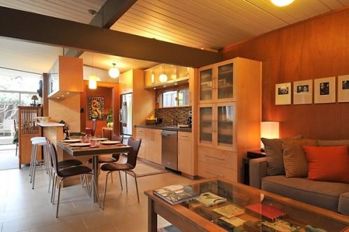 ánh sáng trong thiết kế nội thất nhà ở phòng bếp