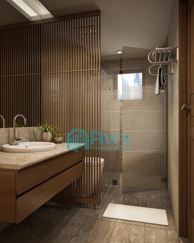 học viên K42 thiết kế phòng tắm chung cư