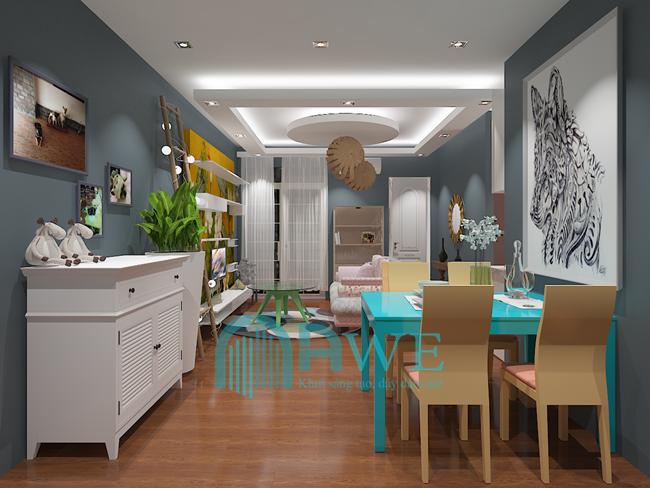 sản phẩm thiết kế nội thất chung cư học viên AWE