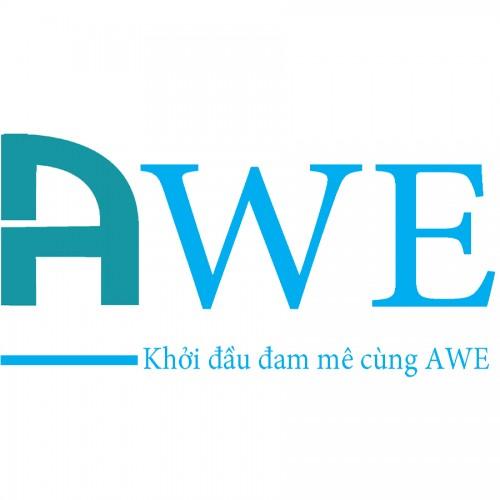 logo trung tâm đào tạo thiết kế nội thất AWE
