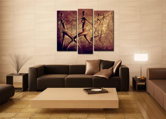 Tranh treo tường bộ ba trong trang trí thiết kế nội thất