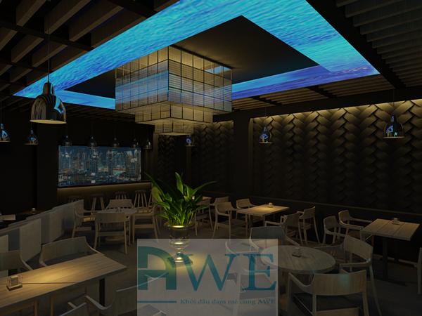 học viên Dinh thiết kế quán cafe