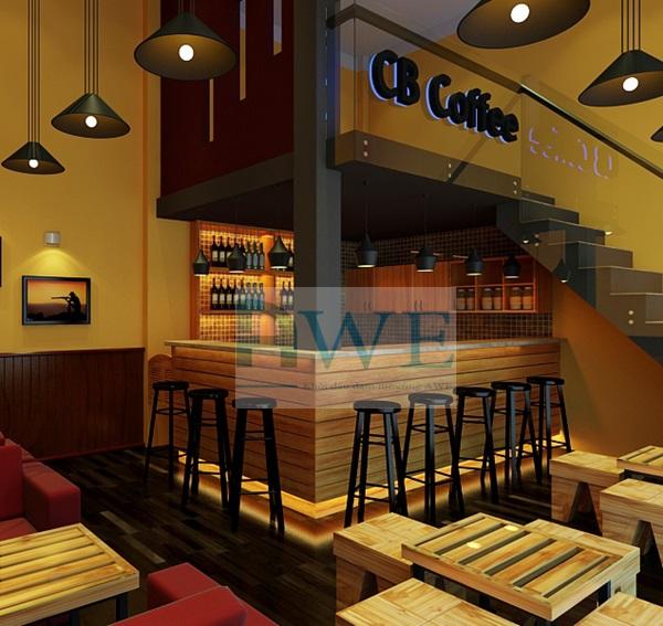 thiết kế quán cafe Phúc K30