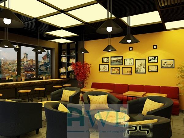 học viên thiết kế quán cafe 1