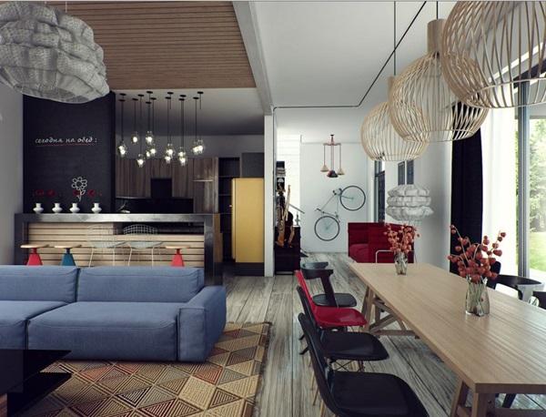 quy luật điểm nhấn trong thiết kế nội thất