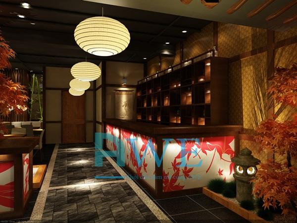 Học viên AWE thiết kế nội thất nhà hàng Nhật Bản 11