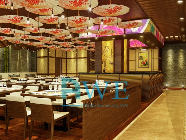 Học viên AWE thiết kế nội thất nhà hàng Nhật Bản 1