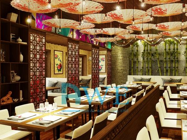 Học viên AWE thiết kế nội thất nhà hàng Nhật Bản 4