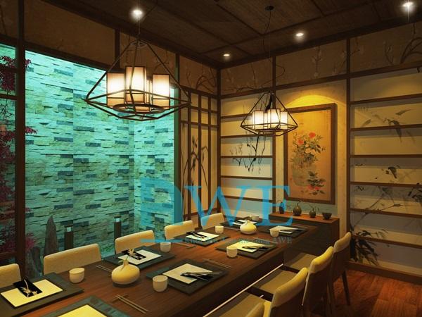 Học viên AWE thiết kế nội thất nhà hàng Nhật Bản 3