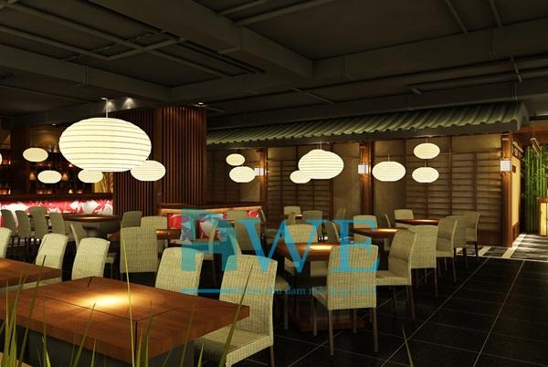 Học viên AWE thiết kế nội thất nhà hàng Nhật Bản 13