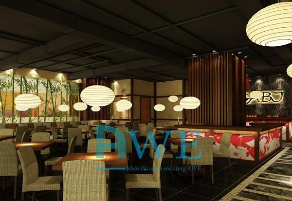 Học viên AWE thiết kế nội thất nhà hàng Nhật Bản 10