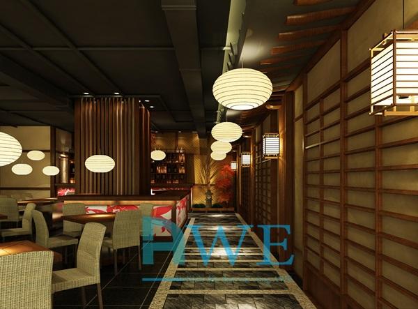 Học viên AWE thiết kế nội thất nhà hàng Nhật Bản 12