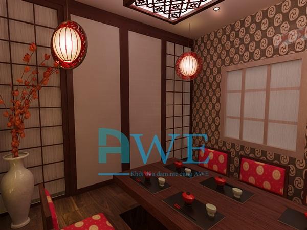 Học viên AWE thiết kế nội thất nhà hàng Nhật Bản 8