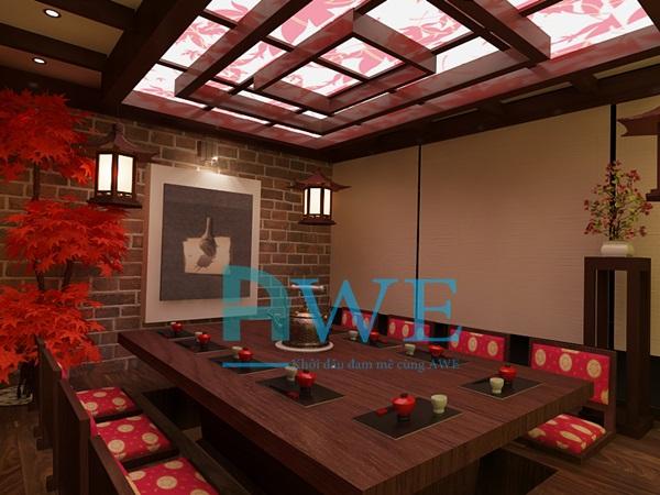 Học viên AWE thiết kế nội thất nhà hàng Nhật Bản 5