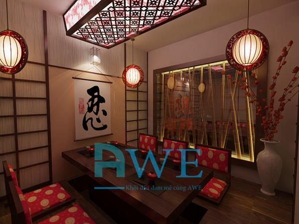 Học viên AWE thiết kế nội thất nhà hàng Nhật Bản 9