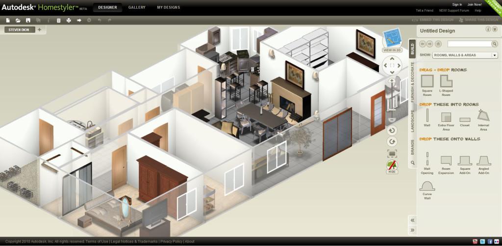 Phần mềm thiết kế nội thất 3d đơn giản miễn phí Homestyler