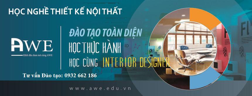 Học nghề thiết kế nội thất cơ bản đến nâng cao tại AWE