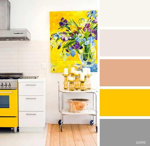 mẹo phối màu cho nội thất bếp nhà bạn