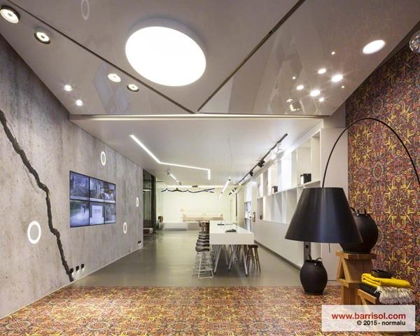 nội thất nhà đẹp vật liệu trần xuyên sáng