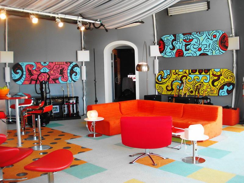 màu sắc nghệ thuật trong thiết kế nội thất với màu cam