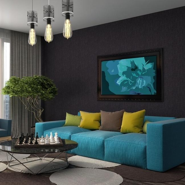 kết hợp màu vàng và màu xanh trong sắc màu nội thất