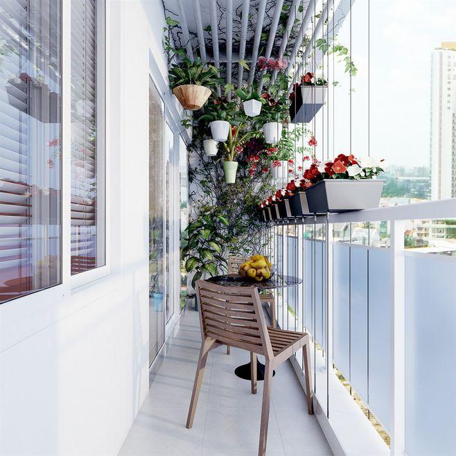 thiết kế ban công chung cư đẹp 2
