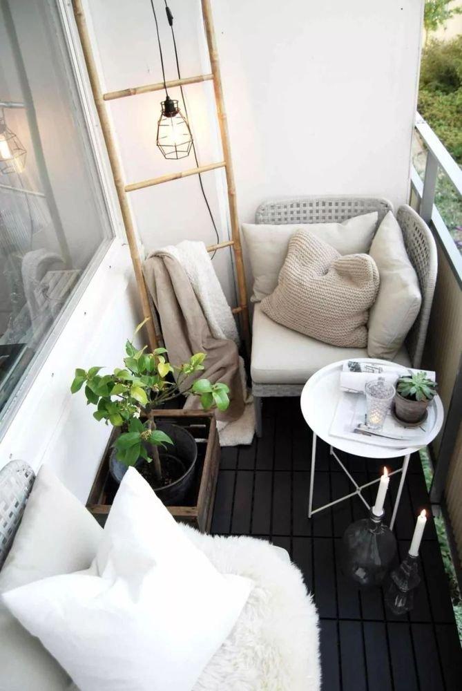 thiết kế ban công chung cư đẹp xanh