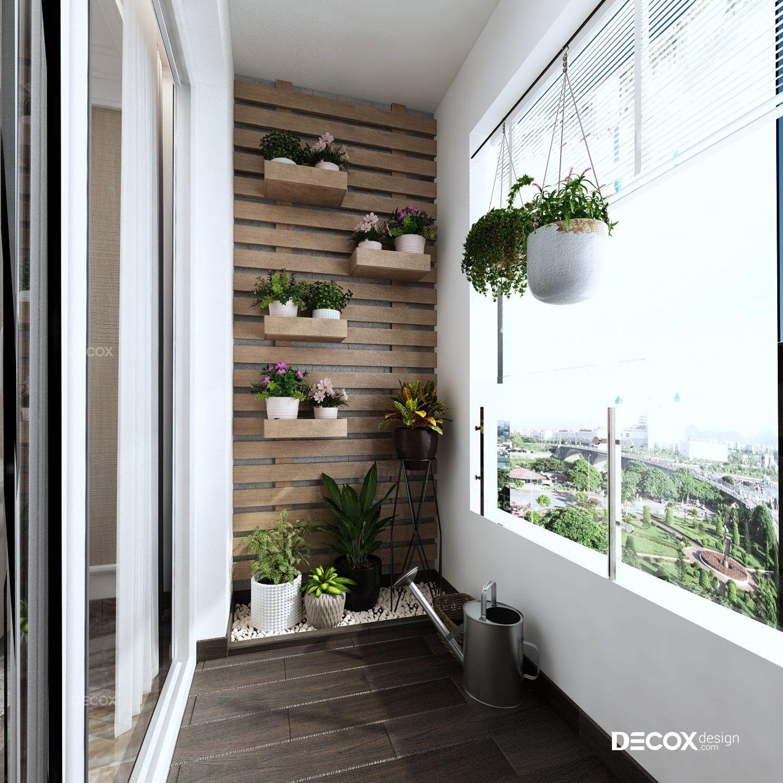 thiết kế nội thất ban công căn hộ chung cư