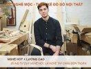 học nghề mộc thiết kế đồ gỗ nội thất lương cao