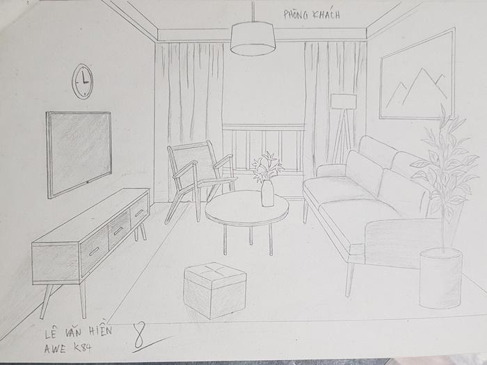 học vẽ tay thiết kế nội thất tại awe 2
