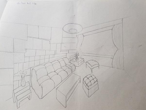 học thiết kế nội thất có cần giỏi vẽ tay bt k84