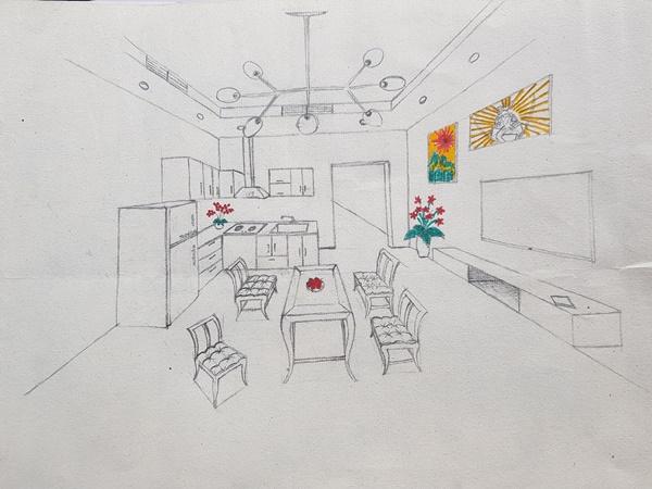 học thiết kế nội thất có cần giỏi vẽ tay anh k84