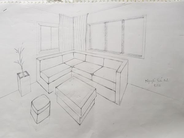 học thiết kế nội thất có cần giỏi vẽ tay tuan anh