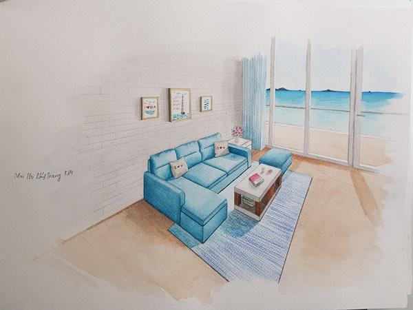 không biết vẽ tay có học được thiết kế nội thất không