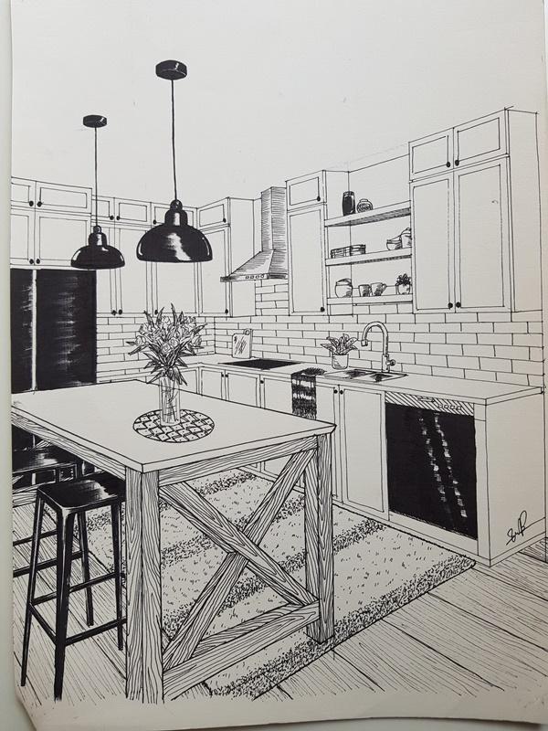 không vẽ tay giỏi có học được thiết kế nội thất