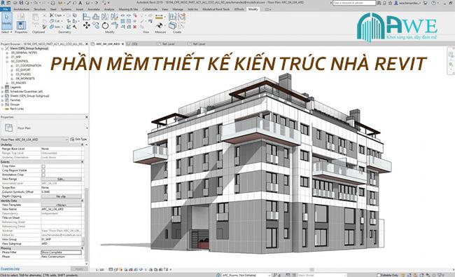 phần mềm thiết kế kiến trúc revit