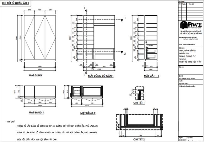 hướng dẫn đọc bản vẽ đồ gỗ nội thất