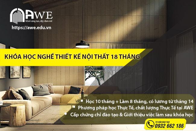 Khóa học nghề thiết kế nội thất 18 tháng tại Hà Nội của AWE
